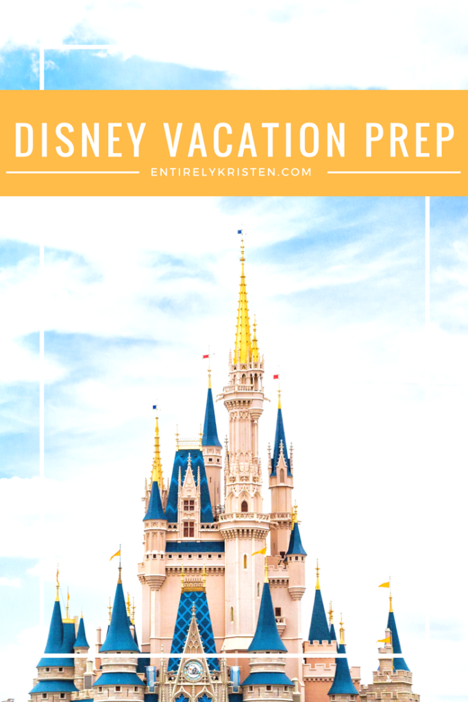 Prepping for our disney vacation